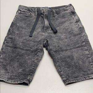 LEVI's Mens 30 Black Gray Jean Soft Stretch Shorts